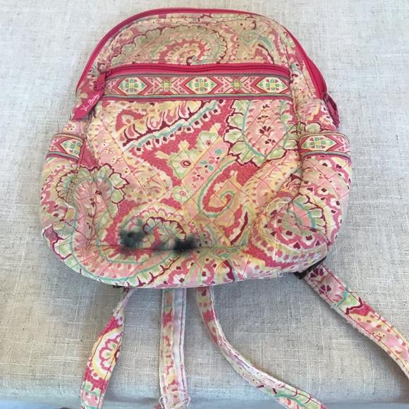 COPY - Vera Bradley Back Pack pink multi color us…